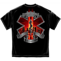 Tribute High Honor Red EMS Mens T-Shirt - The Flag Shirt