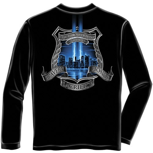 Police Aftermath High Honors Mens Long Sleeve T-Shirt - The Flag Shirt