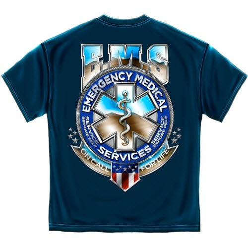 EMS Badge of Honor Mens T-Shirt - The Flag Shirt