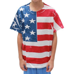 Youth Hand Painted American Flag T-shirt - The Flag Shirt
