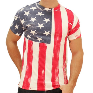 American Flag Vertical Mens T-Shirt - The Flag Shirt