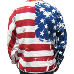 American Flag Mens Crew Neck Sweatshirt -White - The Flag Shirt