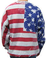 Load image into Gallery viewer, American Flag Mens Crew Neck Sweatshirt-Grey - The Flag Shirt