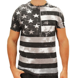 Quick View black and white american flag shirt