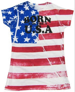 Load image into Gallery viewer, FR Born In The USA Junior Size American Flag T-shirt - The Flag Shirt