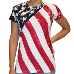 Junior Angled American Flag T-Shirt - The Flag Shirt
