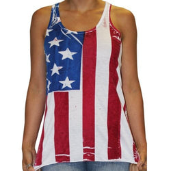 Flowy Racerback Hand Painted American Flag Tank Top - The Flag Shirt