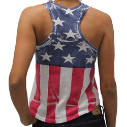 American Flag Juniors Crop Tank Top - The Flag Shirt