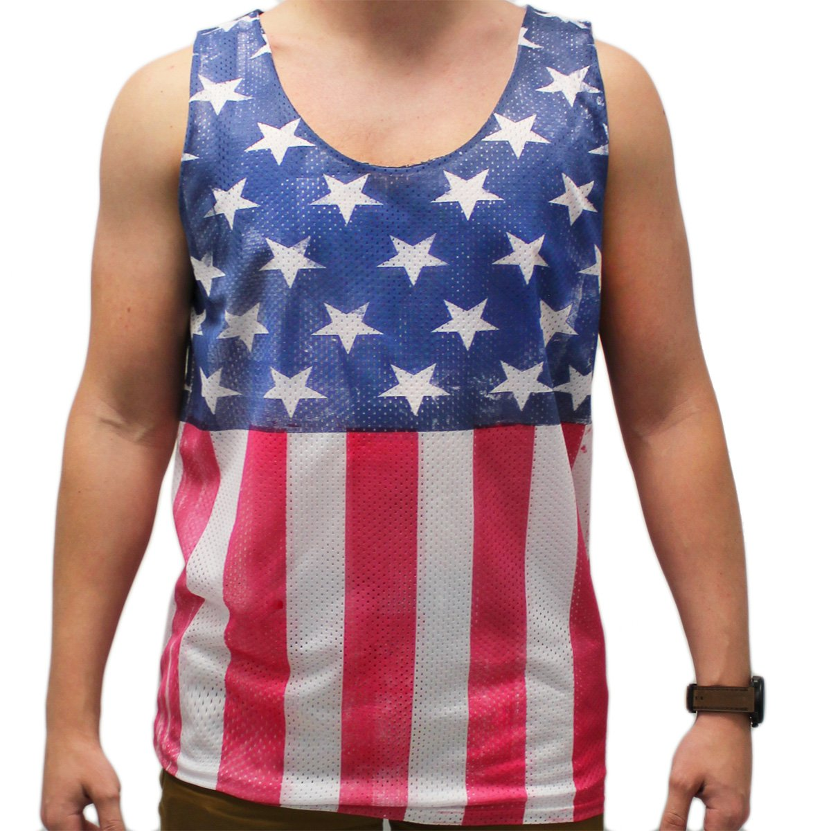 American Flag Men's Mesh Tank Top - theflagshirt