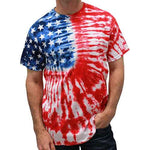 Load image into Gallery viewer, Patriotic t shirt Tie Dye Painted Stars - The Flag Shirt