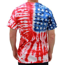 Patriotic t shirt Tie Dye Painted Stars - The Flag Shirt