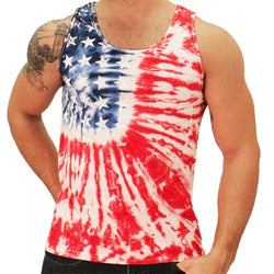 Tie Dye Stars Mens Tank Top - The Flag Shirt