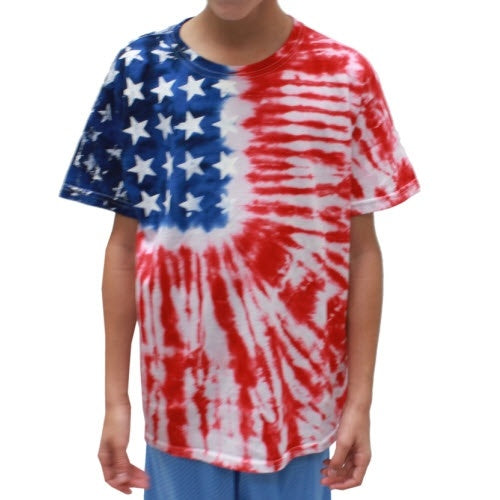Youth Tie Dye American Flag Shirt