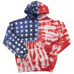 Youth Tie Dye American Flag pullover Hoodie - The Flag Shirt