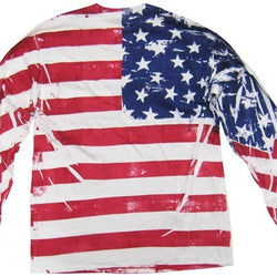 Mens American Flag Long Sleeved T-Shirt - The Flag Shirt