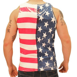Stars and Stripes American Flag Mens Tank Top - The Flag Shirt