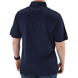Mens Flag Flying Polo Tech Shirt - Navy - The Flag Shirt