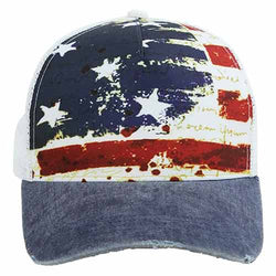 Womens Distressed Flag hat