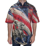 Load image into Gallery viewer, General Patriotic Woven Sportshirt - The Flag Shirt