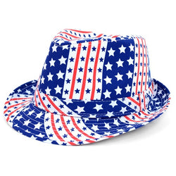 American Flag Trilby Fedora Hat - The Flag Shirt
