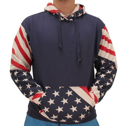 Unisex  Hoodie American Flag Print USA Pullover Hooded Sweatshirt - The Flag Shirt