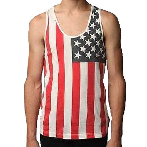 Red White and Blue American Flag Mens Tank Top - The Flag Shirt