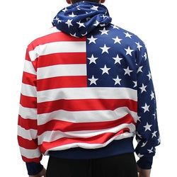 Mens American Flag Pullover Hoodie - The Flag Shirt