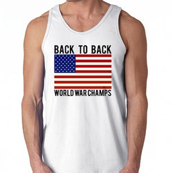 4557c95fa14d27 Back To Back World War Champs MensTank Top - The Flag Shirt