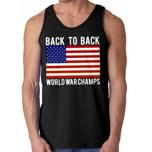 Back To Back World War Champs MensTank Top - The Flag Shirt