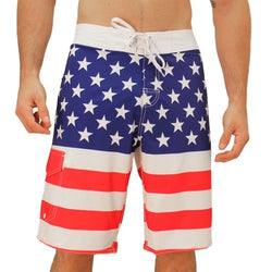 USA Flag Board Shorts Stars and Stripes RWB - The Flag Shirt