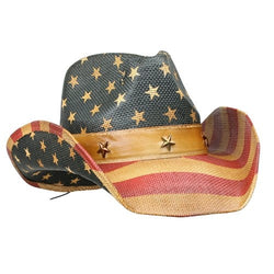 Western American Flag Vintage Cowboy Hat - The Flag Shirt