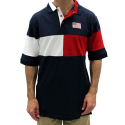 Hilton Pieced Flag Mens Polo Shirt - The Flag Shirt