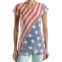 Stars and Stripes faded junior top - The Flag Shirt
