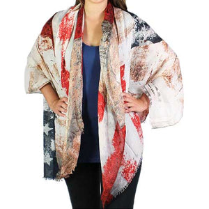 American Flag Big Scarves-Shawls - The Flag Shirt