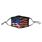 Load image into Gallery viewer, cloth face covering with american flag - the flag shirt