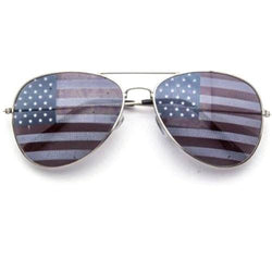 Womens USA Flag Lens Aviator Sunglasses - The Flag Shirt