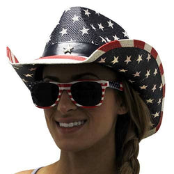 Womens Western American Flag Cowboy Hat - The Flag Shirt