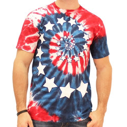 Spiral Tie Dye American Flag Mens T-Shirt - The Flag Shirt