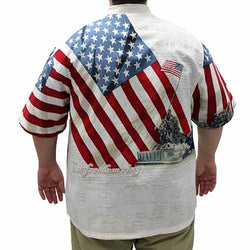 Woven Let Freedom Ring Mens Shirt - The Flag Shirt