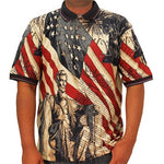 Load image into Gallery viewer, Navy Pique US Flag Mens Polo Shirt - The Flag Shirt