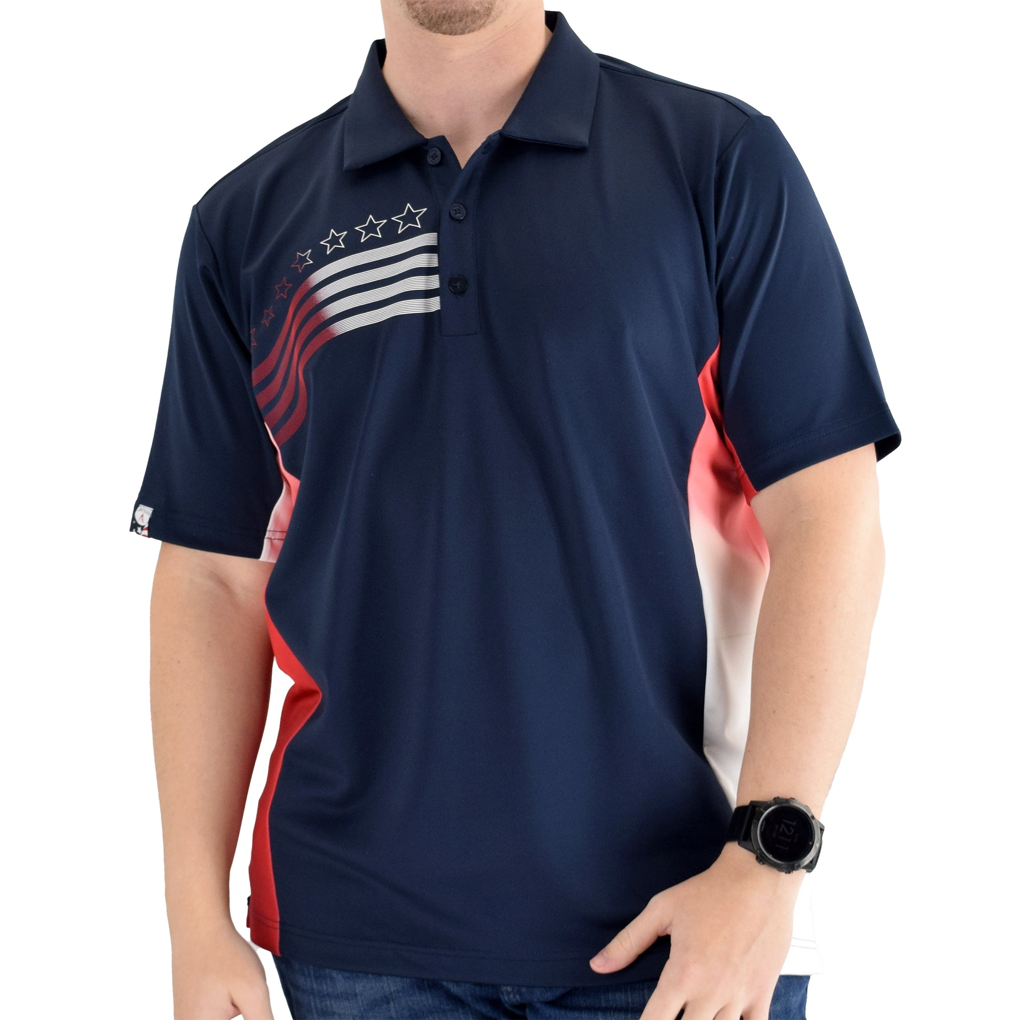 antigua mens liberty classic polo shirt navy - the flag shirt