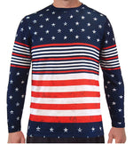 Load image into Gallery viewer, Long Sleeve Crew Neck American Flag Tee - theflagshirt