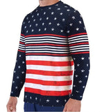 Load image into Gallery viewer, Long Sleeve Crew Neck American Flag Tee