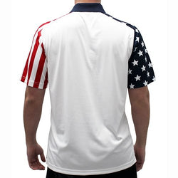 Mens Stars and Stripes Polo Shirt - The Flag Shirt