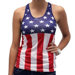 Racerback Flag Juniors Tank Top - The Flag Shirt