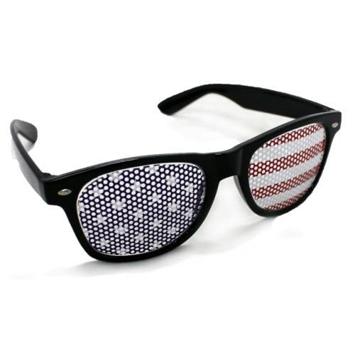 Womens Wayfarer American Flag Sunglasses - The Flag Shirt