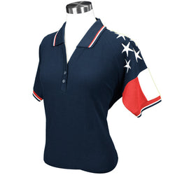 Lady Freedom Pique Womens Polo Shirt - Navy RP635N - The Flag Shirt