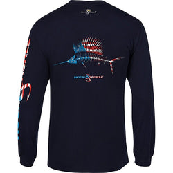 Men's American Sailfish  Fishing Shirt- Navy