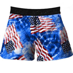 American Flags Tie Dye Boxer Shorts