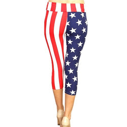 American Flag Capri Leggings - The Flag Shirt